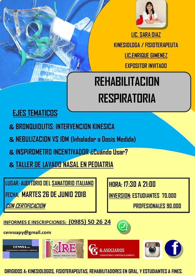 Sanatorio italiano capacitación rehabilitación respiratoria