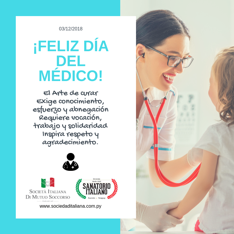 Feliz Día del Médico - sociedad italiana.com.py
